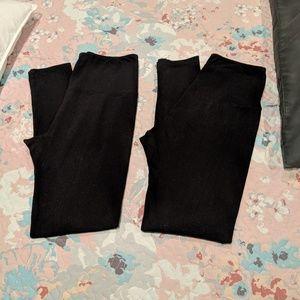 2 pair leggings OS